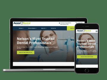 acccess dental website example