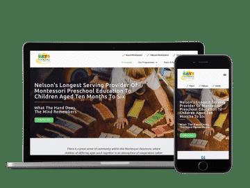 bays montessori website example