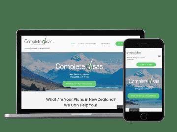 complete visas website example