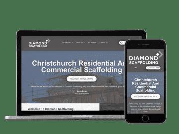 diamond scaffolding website example