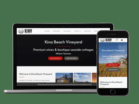 kina beach website example