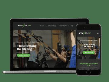 primal fit website example