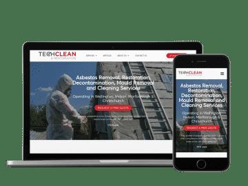 techclean website example